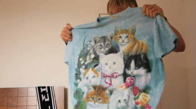ahoodie cat tee 2 627x349 TYLER THE CREATOR WEARING THE SAME KITTENS TEE FROM THE AHOODIE VIDEO