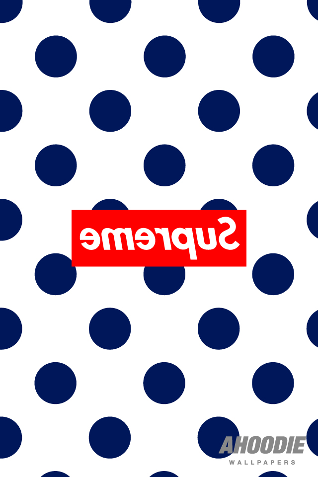 supreme iphone wallpaper1 New Supreme polka dot pattern wallpapers for iPhone and Desktop