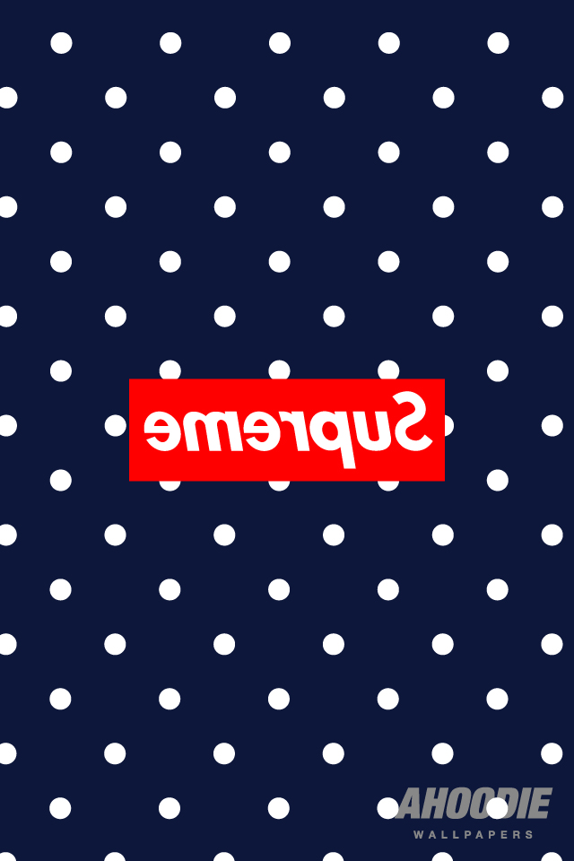supreme iphone wallpaper3 New Supreme polka dot pattern wallpapers for iPhone and Desktop
