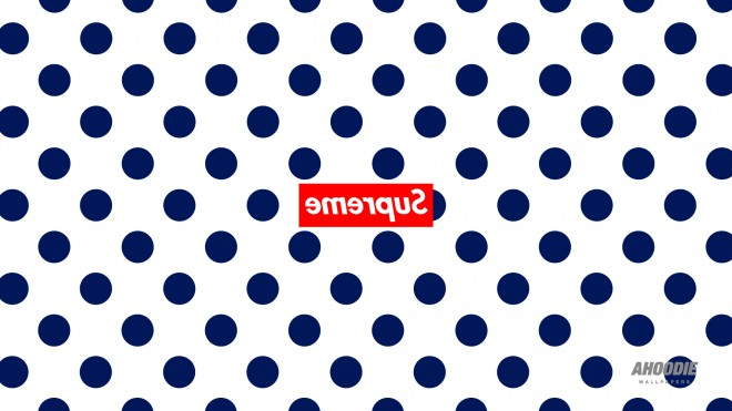 supreme polka dots desktop wallpaper big pokla white 660x371 New Supreme polka dot pattern wallpapers for iPhone and Desktop