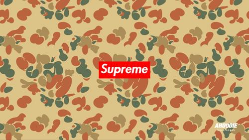 new supreme camo