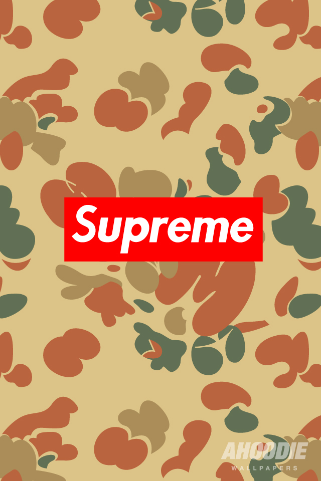 supreme camo iphone wallpapers NEW SUPREME CAMO WALLPAPER