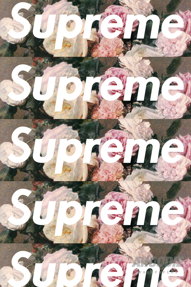 AHOODIE SUPREME IPHONE 4 FLORAL1 POWER CORRUPTION & LIES: SUPREME FLORAL WALLPAPERS