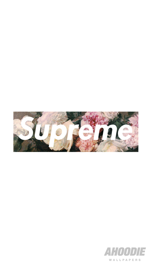AHOODIE SUPREME IPHONE 5 WALLPAPER1 POWER CORRUPTION & LIES: SUPREME FLORAL WALLPAPERS