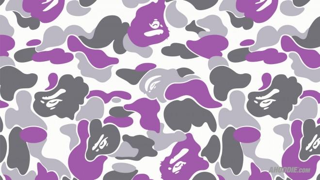 purple bape camo wallpaper