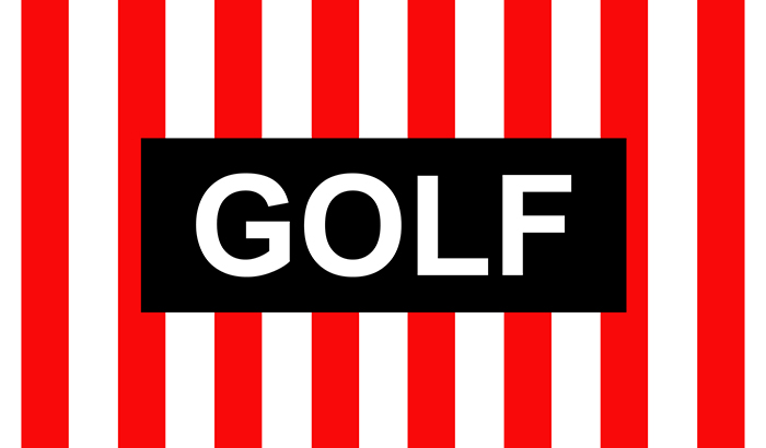 "Odd Future's ""GOLF"" Pinstripe Desktop Wallpaper"