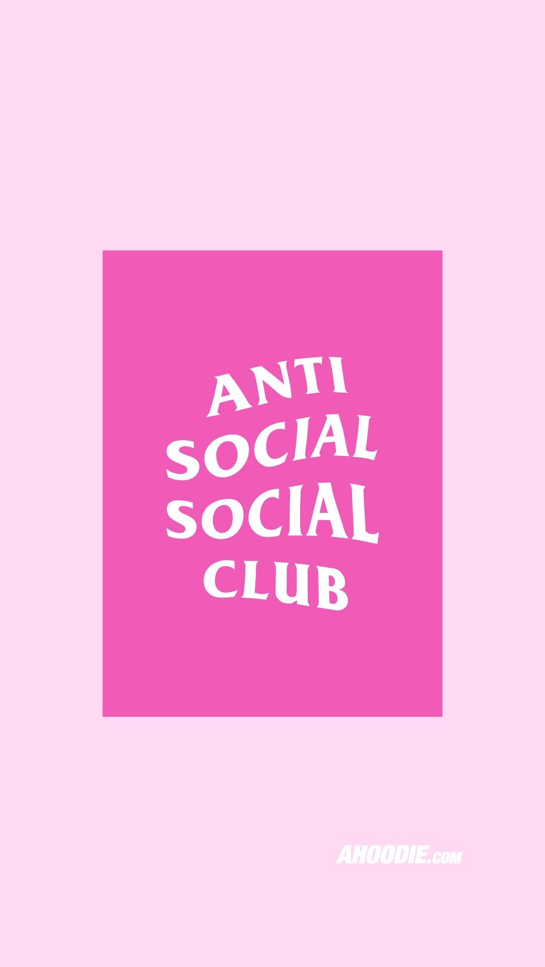 Anti Social Social Club pink wallpaper