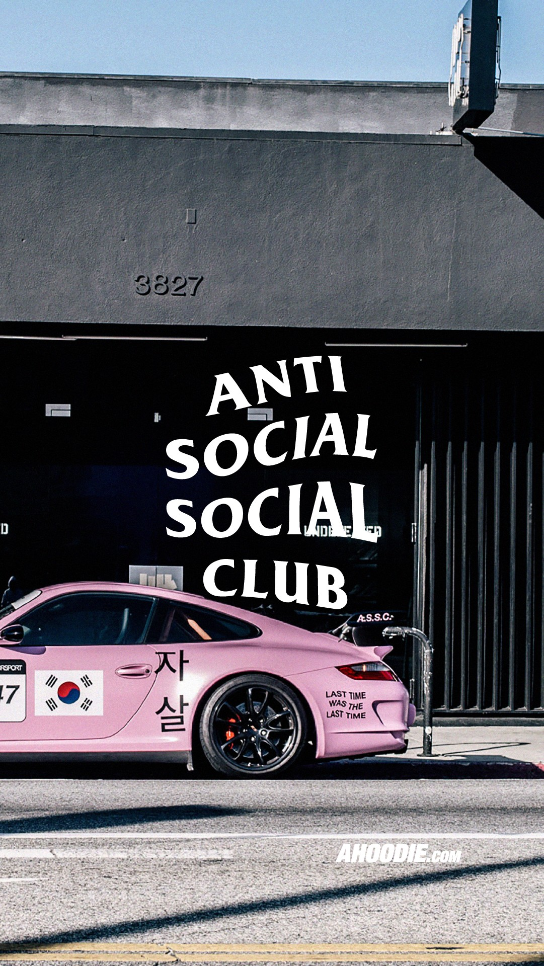 Ahoodie Anti Social Social Club Pink Porsche Wallpaper